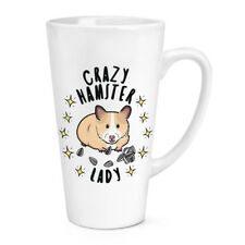 Crazy Hamster Lady Stars 17oz Large Latte Mug Cup - Funny Animal Pet Big Large