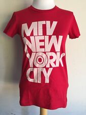 MTV NEW YORK CITY Rare Official Music Television Women's T-Shirt Size Small