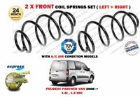 FOR PEUGEOT PARTNER VAN 1.6i 1.6 HDI AIR CON 2008-> 2 X FRONT COIL SPRINGS SET