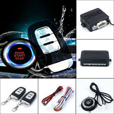 1 Button  Engine Start Car Vibration Alarm System Security Ignition Push Remote