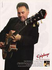 1999 PHOTO PRINT AD Duke Robillard Epiphone Zephyr Regent