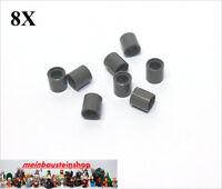 8X Lego® 18654 Technic Pin- Verbinder Distanz-Hülse 1L neues Dunkelgrau NEU
