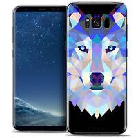 Coque Housse Etui Pour Samsung Galaxy S8 (G950) Polygon Animal Souple Fin Loup