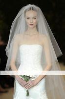 wv17 2.5m 2tier Bridal Tulle Chapel Length Wedding Veil Comb White Ivory Soft