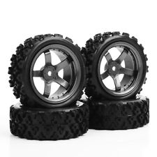 1/10 RC Rally Racing Tires Off Road Car Rubber Tyres and Wheels 4PCS PP0487+D5M