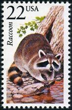 USA -1987- North American Wildlife Stamp - Raccoon - Scott #2331