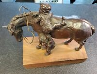 Horse With 2 Kids by Anna Dwyer Bronze Sculpture