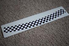Chequered Flag Visor Helmet Sunstrip Racing Sport Motorbike Bike Decal Sticker