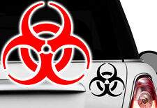 2x Biohazard gabber hardstyle OEM sticker voiture autocollant zombie JDM Apocalypse