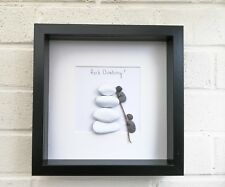 Pebble Art Picture Rock Climber Framed  Birthday Gift Outdoors Personalised