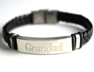 GRANDAD - Bracelet - Leather Braided - Gifts For Him Fashion Christmas Birthday