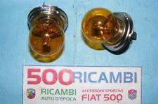FIAT 500 F/L/R 126 COPPIA LAMPADA GIALLA ASIMMETRICA FANALE FARO R2 P45T 45/40