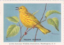1953 National Wildlife Federation Conservation Yellow Warbler MNH
