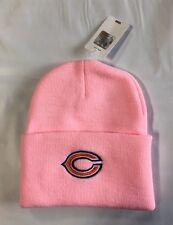 Chicago Bears Knit Beanie Winter Hat Toque Skull Cap New Pink Cuffed Women's