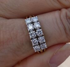 1ct 2 row vintage diamond wedding anniversary right-hand ring