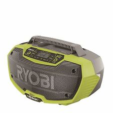 Ryobi One+ 18V Cordless Bluetooth Worksite Compact Radio with 2 Speaker