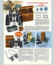 1958 PAPER AD 3 PG Carl Zeiss Jena Germany Seefar Binoculars Goto Telescope