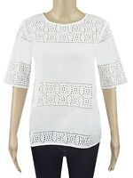 ex M&S Top - Marks & Spencer Embroidered Cut Out Cotton Top