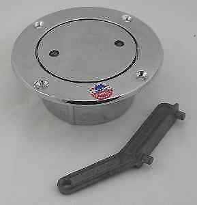 "Perko 0528010CHR 528 010 Pipe Deck Plate Fill 2.5"" Chrome Bronze 2598"