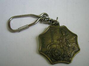 GUANYIN RIDING DRAGON & Yin Yang Octagon Brass Key Ring