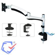 Maclean Tischhalterung Monitor Halterung Schwenkarm Ständer Monitorarm USB 3.0
