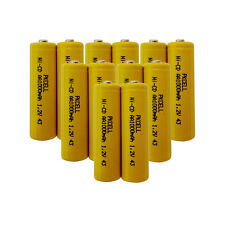 12 pack AA NiCd Ni-CD Rechargeable Batteries 1000mAh 1.2V AA Battery Button Top
