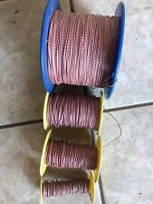 4 Reels WESTERN ELECTRIC 24ga Red-slate Cloth Wire