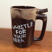 Vintage  Whistle For Your Beer/Wet Your Whistle Beer Ceramic Stein Mug - Japan