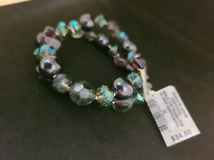 Multicolor Pearls/Stones Stretch Bracele, Charter Club, New, MSRP $34,50