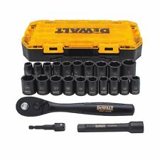 "NEW DEWALT DWMT74739 23 PIECE 1/2"" DRIVE IMPACT SOCKET TOOL SET & CASE 7522477"