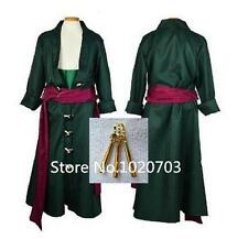 One Piece Roronoa Zoro Cosplay Costume Two years later clothes with earringsF008