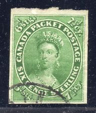 CANADA STAMP #9 — 7 1/2p QUEEN - W/ CERT - 1857 - USED