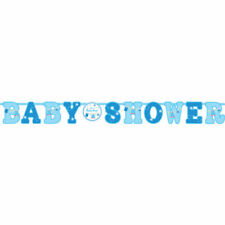 Festoni, ghirlande e striscioni blu Amscan baby shower per feste e party