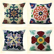 set of 4 Mexican majolica talavera covers decorative cushion covers