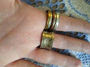 💎Cool set of 2 vintage Designer Studio sterling silver 925 handmade rings £99💎