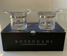 Rosendahl Copenhagen Votives, Grand Cru Collection, Transparent & Steel