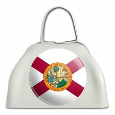 Florida State Flag White Metal Cowbell Cow Bell Instrument