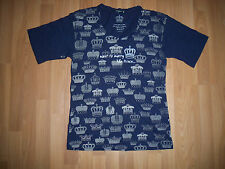"""WOMEN'S ALTERNATIVE T SHIRT SIZE M """"I WANT TO MARRY THE PRINCE"""" NEW NAVY BLUE"""