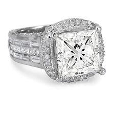 4.39 Ct.Princess Cut Diamond Engagement Ring 14K Gold
