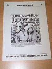 QUATERMAIN – Werberatschlag ´86 - Richard Chamberlain SHARON STONE