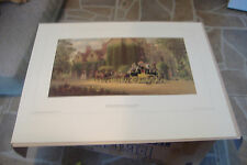 ~OFF FOR THE RACES~EDWARD LAMSON HENRY~COLOR PRINT~