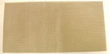 "Expanded Aluminium Mesh  gold coloured anodised finish 6"" x 12"" (152 x 300mm)"
