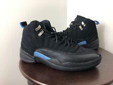 premium selection 95d7c 6917b Air Jordan 12 Nubuck 2009 Mens Size 9.5 Black University Blue 136001 014