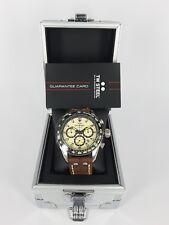 TW Steel Quartz Watch CHS2 Brown Leather Chrono Sport 46mm Case 10ATM RRP$549