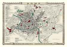 George Bradshaw'S CONTINENTAL Piano della città di Roma 1896 - 1000 Pezzo Puzzle