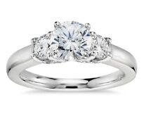 Round Cut Diamond Ladies Engagement Ring 14K White Gold Over 1.20 Ct