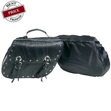 2PC Genuine Leather Saddle Bags Touring Set For HONDA Shadow, Magna