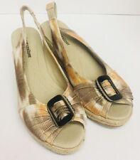 NATURALIZER Bina Wedge SANDALS Ladies size 10 M Espadrille Shoes