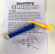 MYSTERY MAGIC SNAPPER Hook Unhook Toy Joke Gag Trick Puzzle Pocket Rubberband