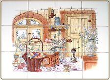 """""""Providence"""" MURO pannello di mattonelle piastrelle 6 x 15 CM x 15 cm decorato a mano nel Regno Unito"""
